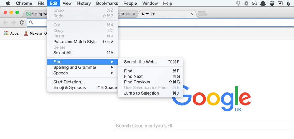 Chrome on Mac OS