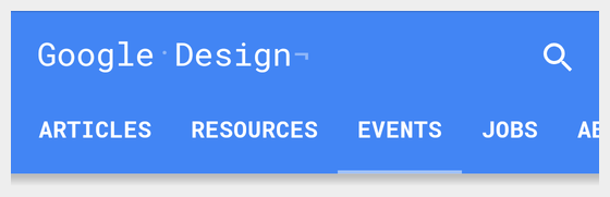 Google Design menu